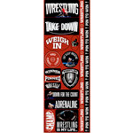 Reminisce - Real Sports Collection - Cardstock Stickers - Combo - Wrestling