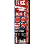Reminisce - Real Sports Collection - Cardstock Stickers - Combo - Track