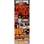 Reminisce - Real Sports Collection - Cardstock Stickers - Graphic - Basketball