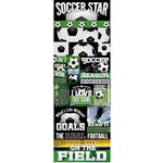 Reminisce - Real Sports Collection - Cardstock Stickers - Graphic - Soccer
