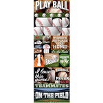 Reminisce - Real Sports Collection - Cardstock Stickers - Graphic - Baseball