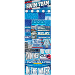 Reminisce - Real Sports Collection - Cardstock Stickers - Graphic - Swimming