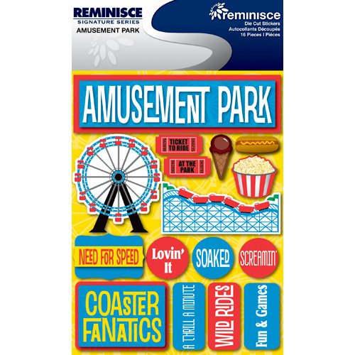 Reminisce - Signature Series Collection - 3 Dimensional Die Cut Stickers - Amusement Park