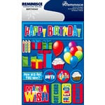 Reminisce - Signature Series Collection - 3 Dimensional Die Cut Stickers - Birthday