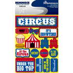 Reminisce - Signature Series Collection - 3 Dimensional Die Cut Stickers - Circus