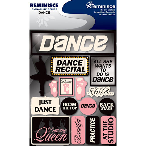 Reminisce - Signature Series Collection - 3 Dimensional Die Cut Stickers - Dance