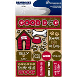 Reminisce - Signature Series Collection - 3 Dimensional Die Cut Stickers - Dog