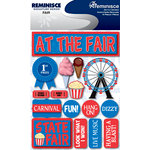 Reminisce - Signature Series Collection - 3 Dimensional Die Cut Stickers - Fair