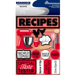 Reminisce - Signature Series Collection - 3 Dimensional Die Cut Stickers - Recipes