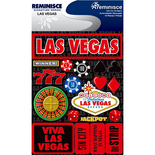 Reminisce - Signature Series Collection - 3 Dimensional Die Cut Stickers - Las Vegas