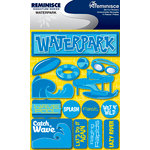 Reminisce - Signature Series Collection - 3 Dimensional Die Cut Stickers - Waterpark