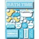 Reminisce - Signature Series Collection - 3 Dimensional Die Cut Stickers - Bath Time