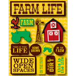 Reminisce - Signature Series Collection - 3 Dimensional Die Cut Stickers - Farm Life