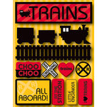 Reminisce - Signature Series Collection - 3 Dimensional Die Cut Stickers - Trains