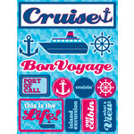 Reminisce - Signature Series Collection - 3 Dimensional Die Cut Stickers - Cruise
