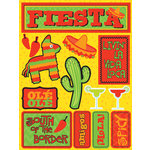 Reminisce - Signature Series Collection - 3 Dimensional Die Cut Stickers - Fiesta