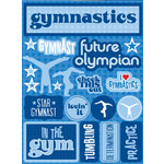 Reminisce - Signature Series Collection - 3 Dimensional Die Cut Stickers - Gymnastics