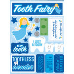 Reminisce - Signature Series Collection - 3 Dimensional Die Cut Stickers - Tooth Fairy