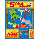 Reminisce - Signature Series Collection - 3 Dimensional Die Cut Stickers - Tropical Party