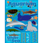 Reminisce - Signature Series Collection - 3 Dimensional Die Cut Stickers - Aquarium