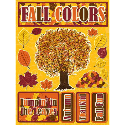 Reminisce - Signature Series Collection - 3 Dimensional Die Cut Stickers - Fall Colors