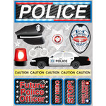 Reminisce - Signature Series Collection - 3 Dimensional Die Cut Stickers - Police