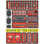 Reminisce - Signature Series Collection - 3 Dimensional Die Cut Stickers - Busted