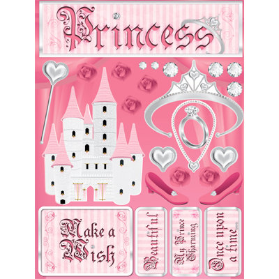 Reminisce - Signature Series Collection - 3 Dimensional Die Cut Stickers - Princess