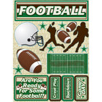 Reminisce - Signature Series Collection - 3 Dimensional Die Cut Stickers - Football