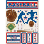 Reminisce - Signature Series Collection - 3 Dimensional Die Cut Stickers - Baseball