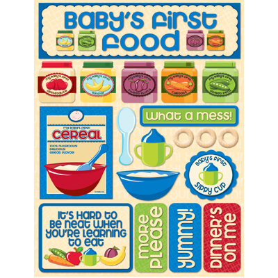 Reminisce - Signature Series Collection - 3 Dimensional Die Cut Stickers - Baby Food