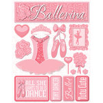 Reminisce - Signature Series Collection - 3 Dimensional Die Cut Stickers - Ballerina