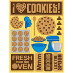 Reminisce - Signature Series Collection - 3 Dimensional Die Cut Stickers - Baking Cookies