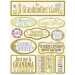 Reminisce - Signature Series Collection - 3 Dimensional Die Cut Stickers - Grandma