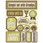 Reminisce - Signature Series Collection - 3 Dimensional Die Cut Stickers - Grandpa