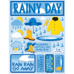 Reminisce - Signature Series Collection - 3 Dimensional Die Cut Stickers - Rainy Day