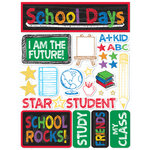 Reminisce - Signature Series Collection - 3 Dimensional Die Cut Stickers - School Rocks