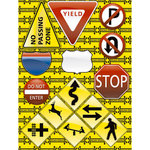 Reminisce - Road Signs Collection - 3 Dimensional Stickers - Road Signs, CLEARANCE