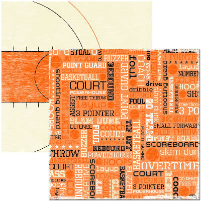 Reminisce - Basketball Collection - 12x12 Double Sided Paper - Hoops