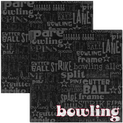 Reminisce - Bowling Collection - 12x12 Double Sided Paper - Bowling