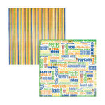 Reminisce - Amusement Park Collection - 12x12 Double Sided Paper - Fun and Games