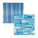 Reminisce - Cruise Collection - 12x12 Double Sided Paper - Bon Voyage