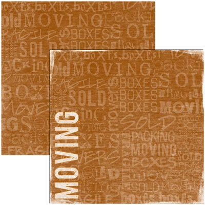 Reminisce - Moving Collection - 12x12 Double Sided Paper - Moving