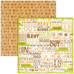 Reminisce - Moving Collection - 12x12 Double Sided Paper - Moving Day