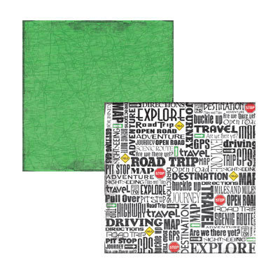 Reminisce - Road Trip Collection - 12x12 Double Sided Paper - Open Road
