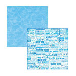 Reminisce - Water Park Collection - 12x12 Double Sided Paper - Wet n' Wild