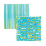 Reminisce - Caribbean Collection - 12x12 Double Sided Paper - Caribbean