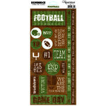 Reminisce - Football Collection - Cardstock Stickers - Football Phrase