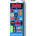 Reminisce - Vegas Collection - Cardstock Stickers - Vegas Phrase