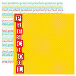 Reminisce - Signature Series Collection - 12 x 12 Double Sided Paper - Preschool